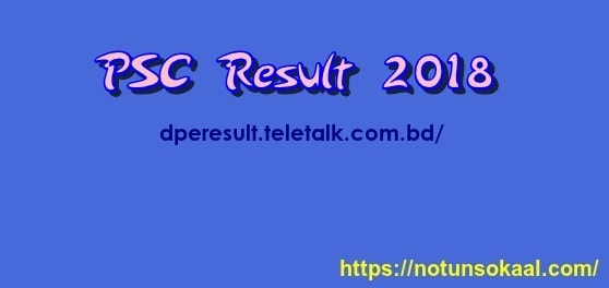 PSC Exam Result 2018 | www.dpe.gov.bd