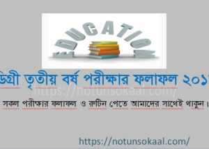 NU Degree 3rd Year Result 2019 – Degree Final year result