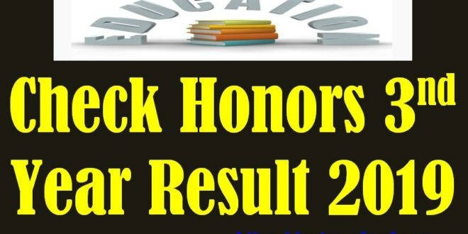 Honors 3rd Year Exam Result 2019