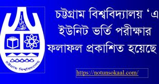 Chittagong University A Unit Result 2019