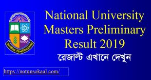masters preliminary result
