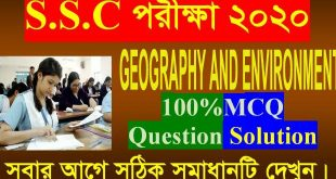 SSC Geography And Environment Answer 2020