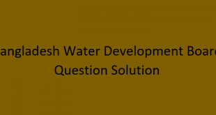 BWDB Job Written Question With MCQ solution 2020