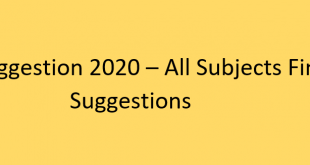 HSC Suggestion 2020 - All subjects Final Suggestions