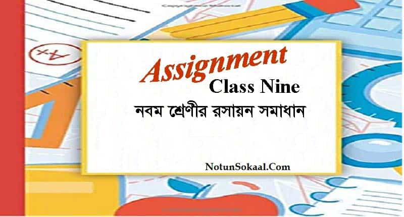 Class 9 Chemistry Assignment Answer